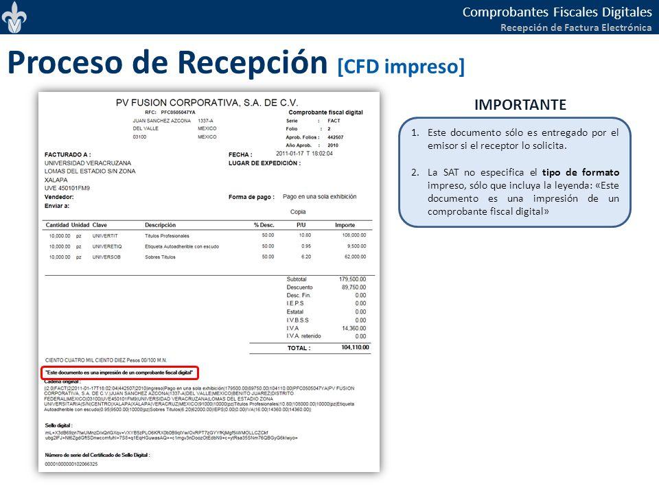 Proceso de Recepción [CFD impreso]